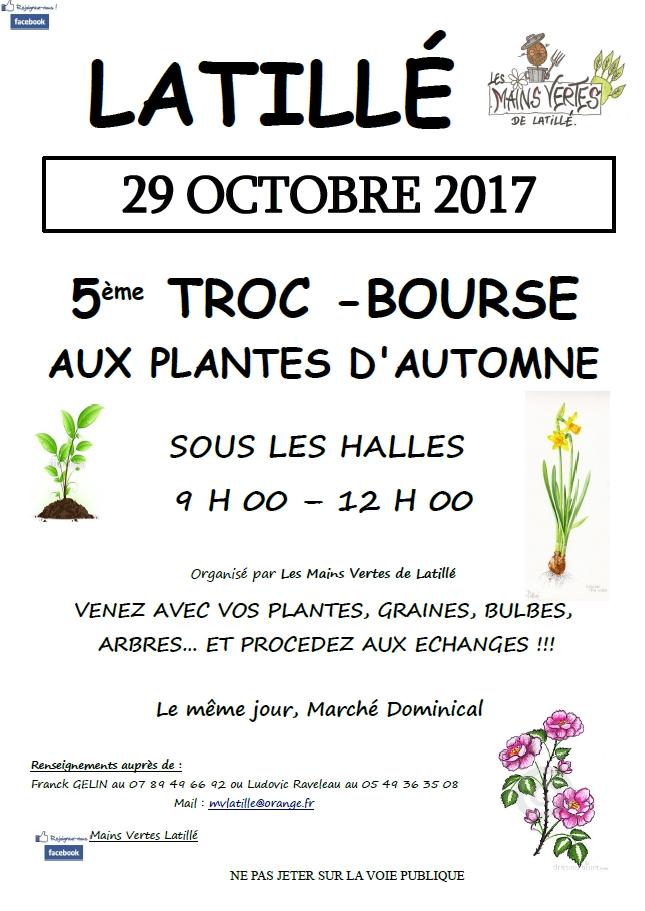 5eme Troc Bourse aux Plantes - 29 Octobre 2017 - Latillé