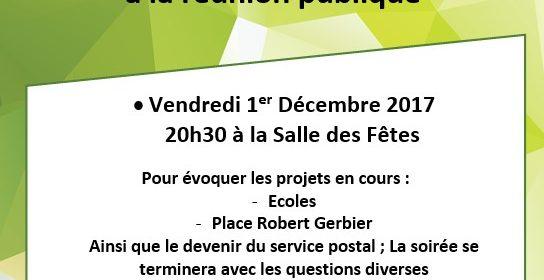 Réunion Publique Décembre 2017