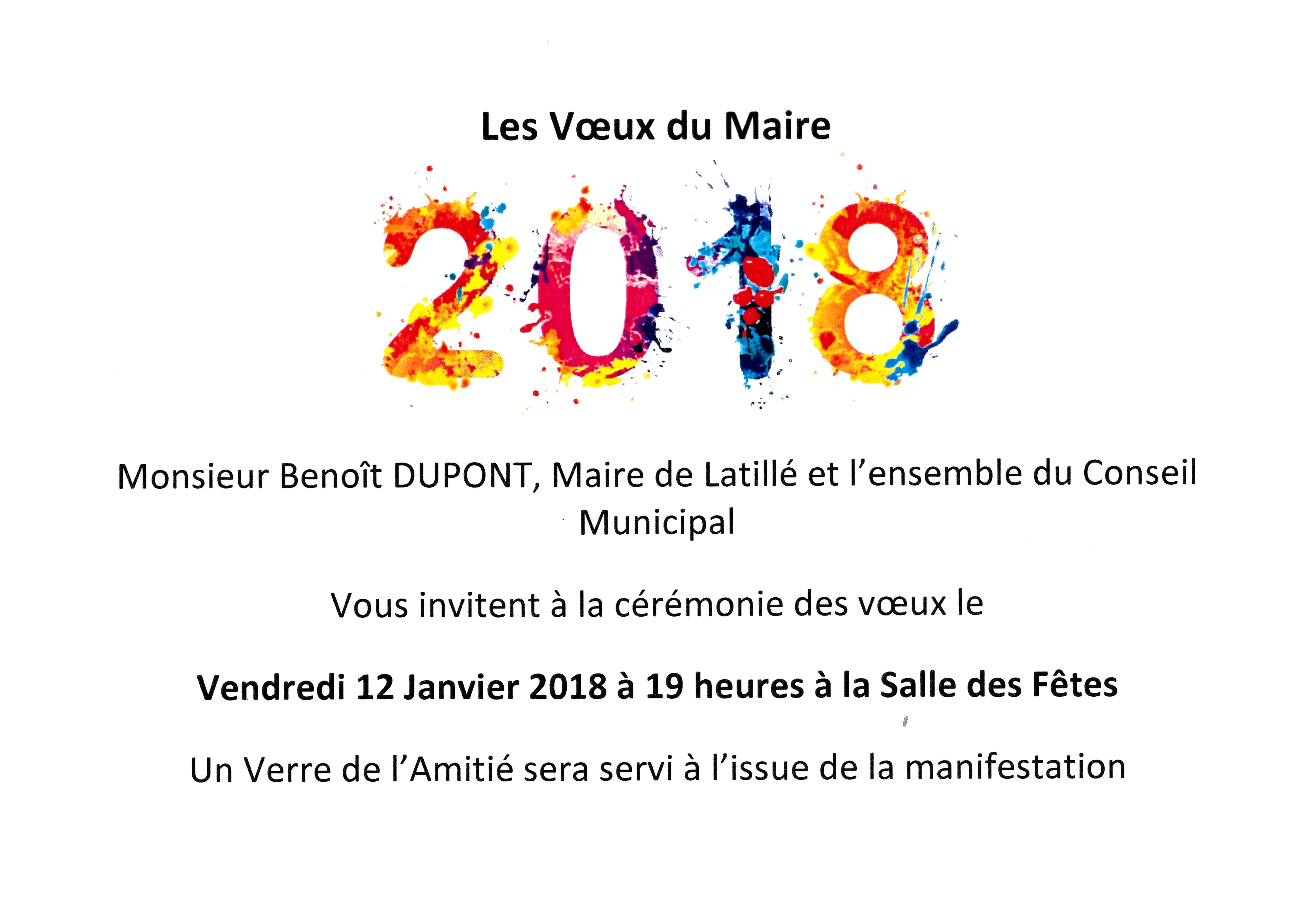 Voeux 2018 - Commune de Latillé