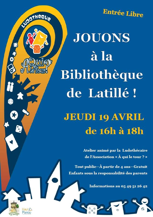 Affiche Bibliotheque Latille
