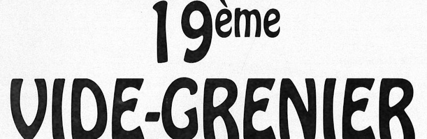 Vide Grenier Latillé 2018 En tete