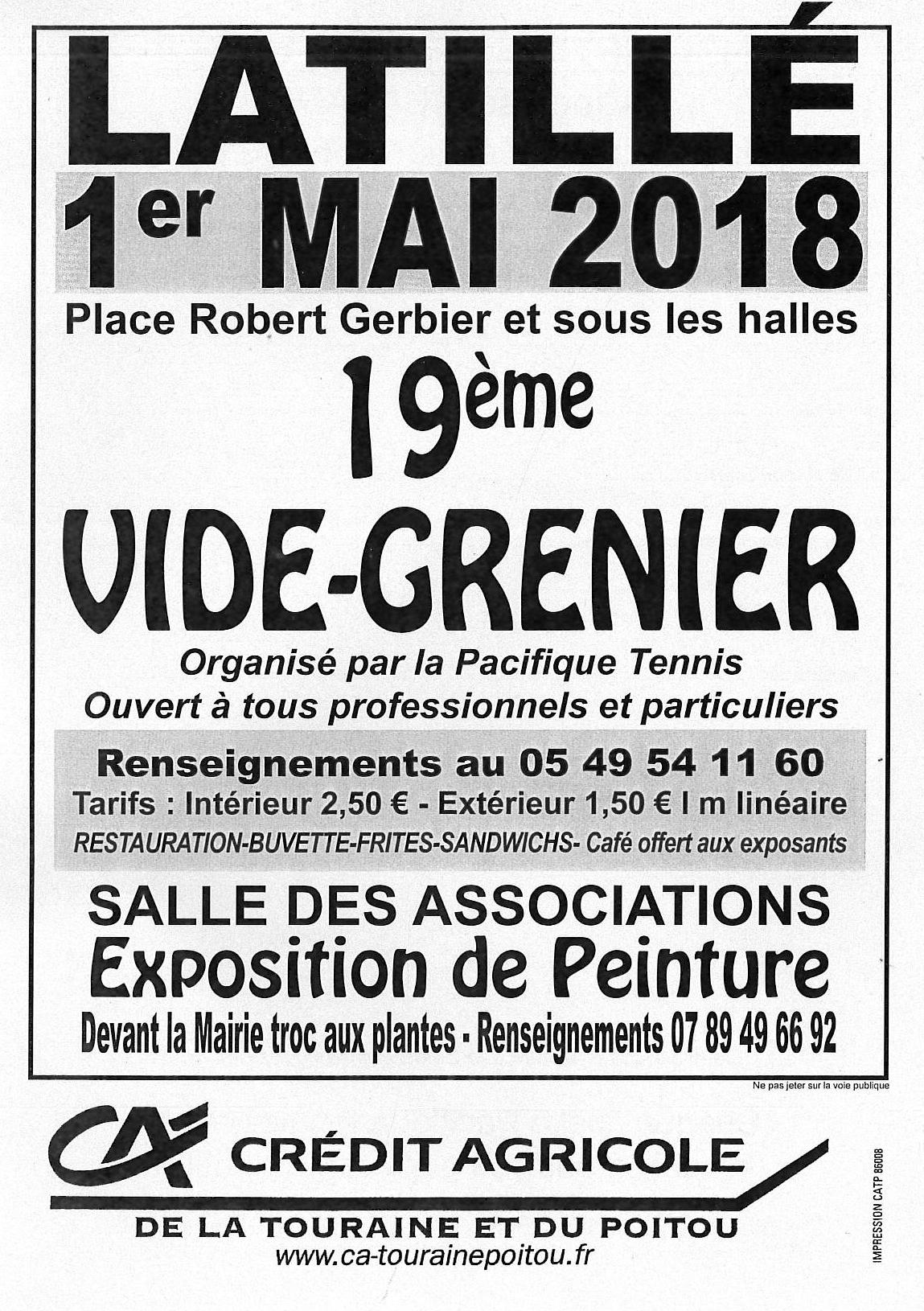 Vide Grenier Latillé 2018